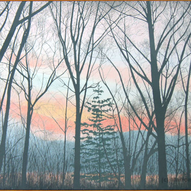 MR-400 Winter Trees at Dusk (Sold)